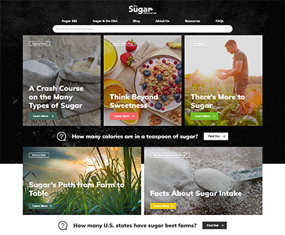 Marriner Marketing Redesigns Website for the Sugar Association to Share  Sugar Knowledge & Increase Consumer Confidence